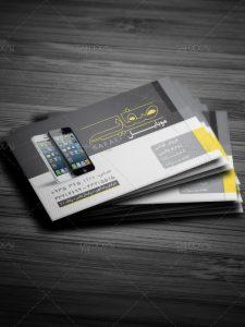 دانلود نمونه کارت ویزیت موبایل فروشی و تعمیرات و لوازم جانبی PSD لایه باز
