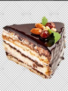 عکس کیک برش خورده PNG دور بری شده با کیفیت بالا بی بک گراند
