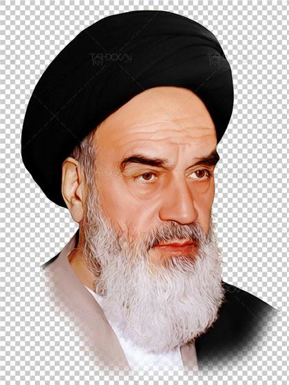 عکس دوربری شده چهره امام خمینی