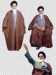 دانلود تصاویر دوربری شده امام خمینی (ره) در حالت های مختلف PNG