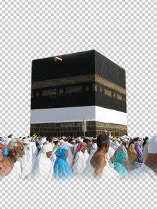 عکس خانه کعبه با کیفیت بالا دوربری شده فایل PNG بدون پس زمینه