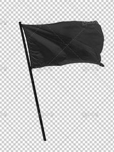 عکس پرچم سیاه PNG دوربری شده با کیفیت بالا مناسب برای تسلیت