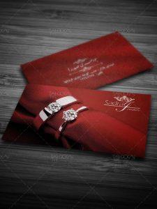کارت ویزیت طلا فروشی PSD لایه باز طرح دو رو با عکس دستبند