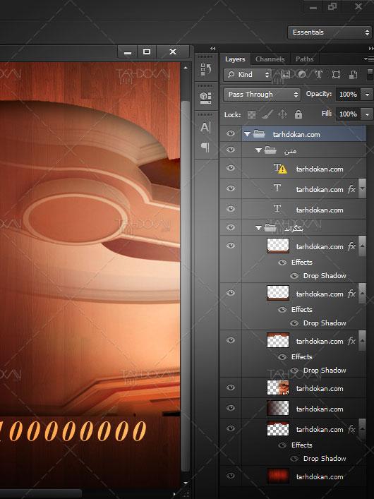 کارت ویزیت طراحی داخلی دکوراسیون