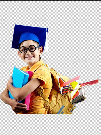 عکس دانش آموز دوربری شده بدون بک گراند PNG با کیفیت بسیار بالا
