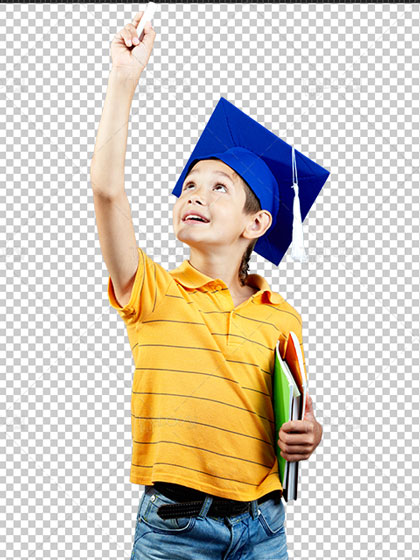 عکس دانش آموز ابتدایی PNG دوربری شده با کیفیت HD و سایز بالا