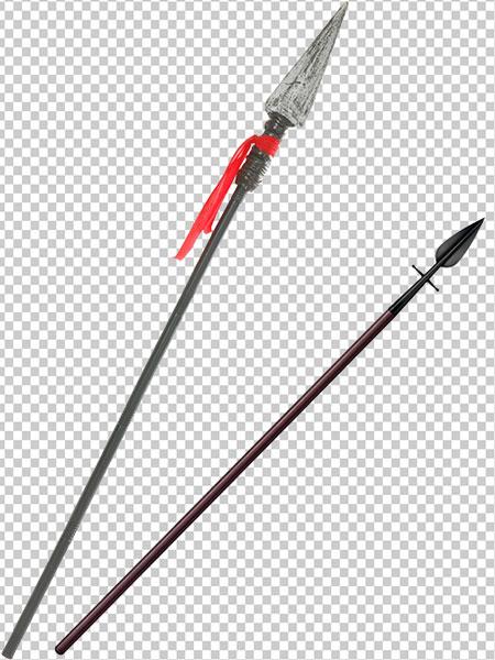 عکس نیزه جنگی PNG دوربری شده با سایز و کیفیت بالا – دو عدد
