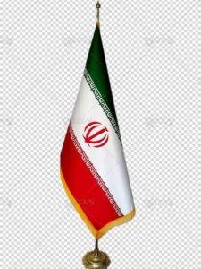 عکس پرچم تشریفاتی ایرانی PNG دوربری شده بدون بک گراند