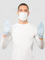 دانلود عکس مرد جوان با ماسک PSD لایه باز بدون پس زمینه دوربری شده