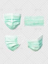دانلود 4 عکس ماسک پزشکی و تنفسی بهداشتی PSD لایه باز دوربری شده