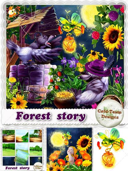دانلود تصاویر کارتونی و کودکانه جنگل