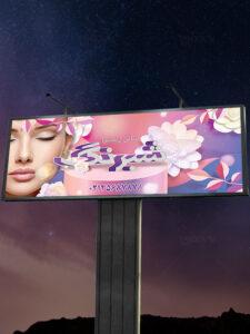 طرح تابلو آرایشگاه زنانه و سالن زیبایی بانوان PSD لایه باز حرفه ای