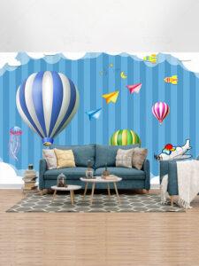 دانلود رایگان طرح کاغذ دیواری دیوار اتاق کودک ساده PSD لایه باز