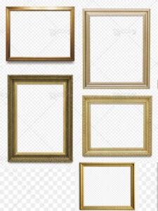 دانلود 5 طرح قاب عکس چوبی خالی PNG با کیفیت بسیار بالا