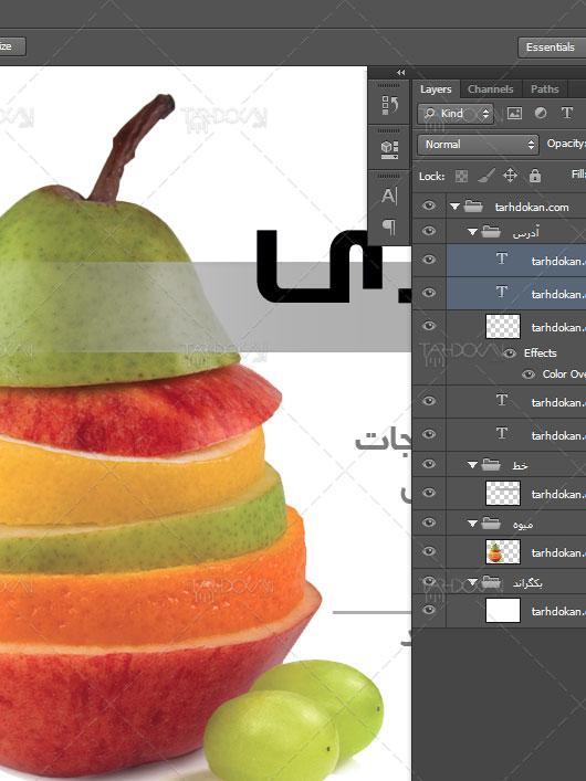 نمونه کارت ویزیت میوه فروشی