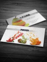 نمونه کارت ویزیت میوه فروشی طرح PSD لایه باز دو رو شیک