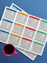 دانلود تقویم 1400 طرح PSD لایه باز با روزشمار قابل ویرایش