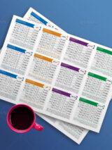 تقویم 1400 لایه باز فایل PSD طرح روزشمار قابل ویرایش با مناسبت ها