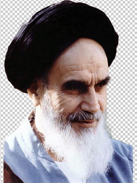 عکس امام خمینی PNG دور بری شده