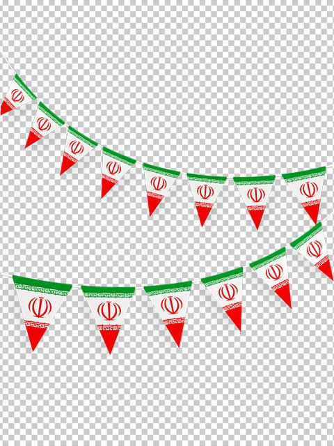 عکس ریسه پرچم ایران یا پرچم آویز PNG