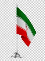عکس پرچم تشریفاتی پایه دار ایران PNG بدون بک گراند با کیفیت بالا