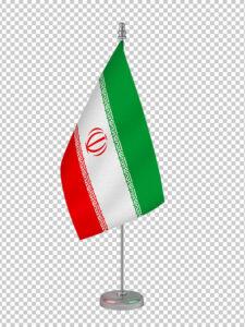 عکس پرچم پایه دار ایران PNG بدون بک گراند با کیفیت بالا