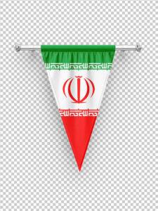 عکس پرچم سه گوش آویز ایران PNG بدون بک گراند با کیفیت بالا