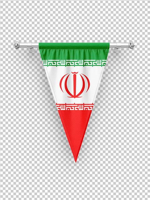 عکس پرچم سه گوش آویز ایران