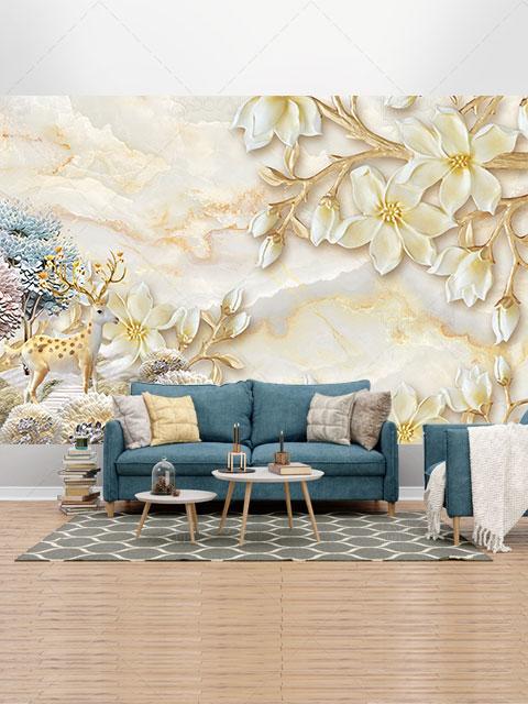 دانلود طرح کاغذ دیواری باغ