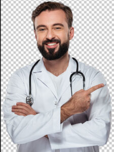 عکس پزشک ایرانی مرد با ریش PNG دور بری شده با کیفیت بالا