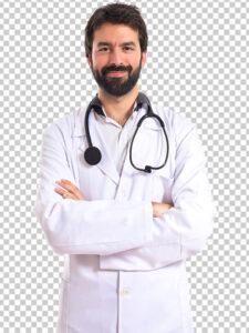 عکس دکتر مرد ایرانی PNG دور بری با کیفیت بسیار بالا