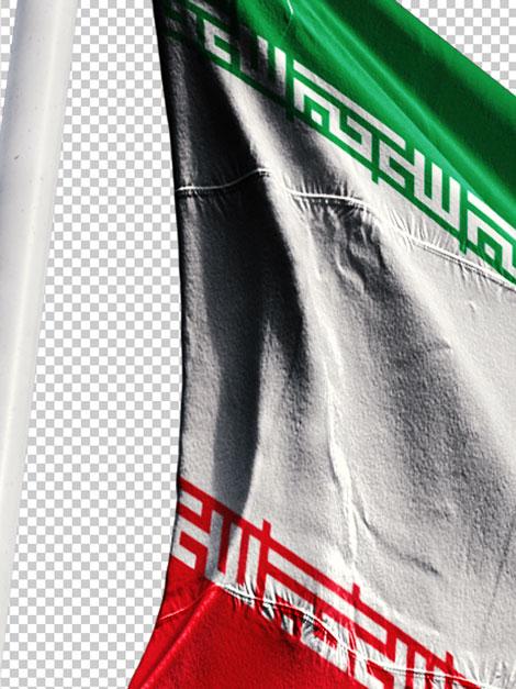 پرچم ایران در باد PNG