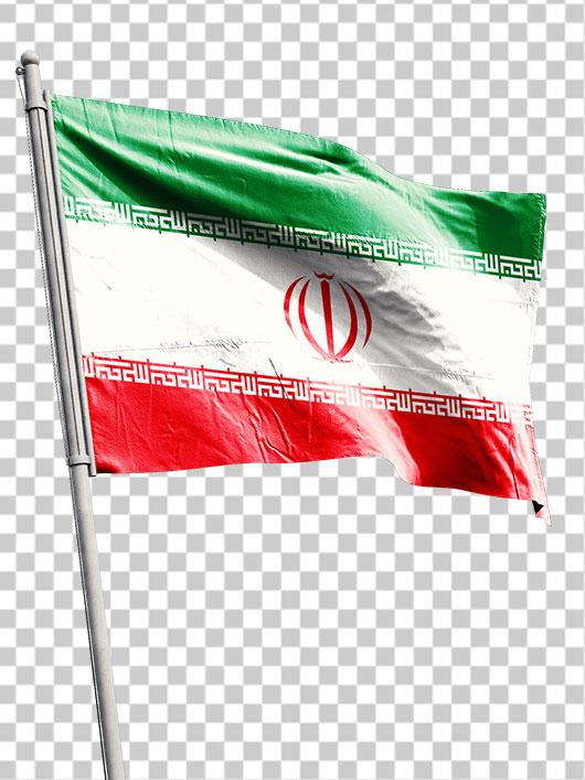 عکس پرچم ایران روی میله