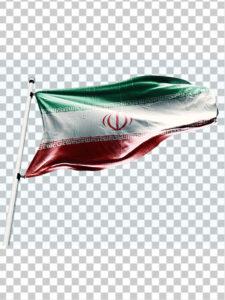 دانلود تصویر پرچم ایران PNG دور بری با کیفیت بالا و واقعی
