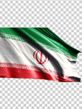 تصویر پرچم ایران از نمای نزدیک PNG با کیفیت بسیار بالا