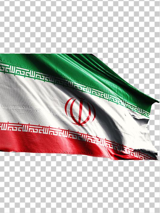 تصویر پرچم ایران از نمای نزدیک
