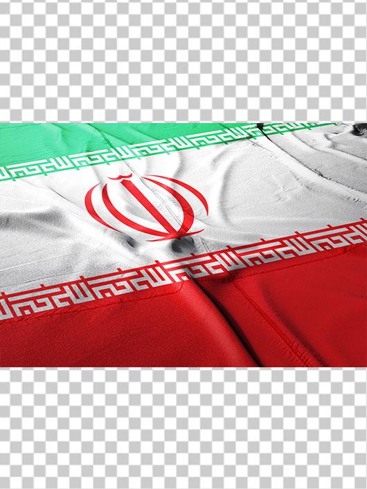 عکس پرچم ایران پهن شده روی زمین